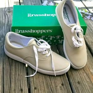 Womens Grasshopper Leather Tennis Shoes